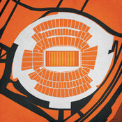 Paul Brown Stadium - Cincinnati Bengals City Print
