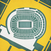 Lambeau Field - Green Bay Packers City Print