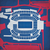 Gillette Stadium - New England Patriots City Print