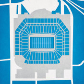 Ford Field - Detroit Lions City Print