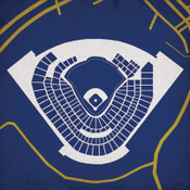 Miller Park - Milwaukee Brewers City Print