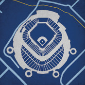Tropicana Field - Tampa Bay Rays City Print