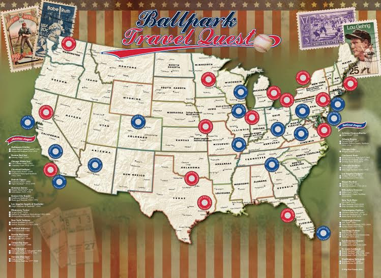 Ballparks of Major League Baseball Poster - the Stadium Shoppe