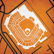Camden Yards - Baltimore Orioles City Print