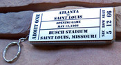 Busch Stadium Ticket Stadium Seat Keyring