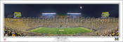 """A Night to Remember"" at Michigan Stadium Panoramic Poster"