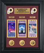 Washington Redskins Super Bowl Ticket and Game Coin Collectible