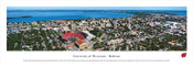 Wisconsin Badgers At Camp Randall Stadium Aerial Panorama Poster