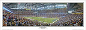 """Inaugural Game"" Detroit Lions Panoramic Poster"