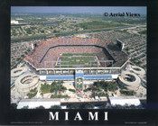 Sun Life Stadium Aerial Poster