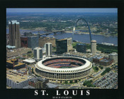 Old Busch Stadium Aerial Poster