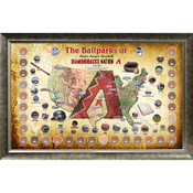 Arizona Diamondbacks Ballpark Map Framed Collage w/Game Used Dir