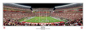"""End Zone"" Crimson Tide at Bryant Denny Stadium Panoramic Poster"