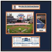 2009 Citi Field Inaugural Game Ticket Frame - Mets