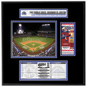 2007 World Series Coors Field Ticket Frame - Rockies