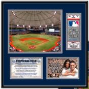 Tropicana Field Ticket Frame - Rays