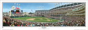 """First Pitch at Jacobs Field"" Panoramic Framed Poster"
