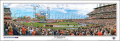 """2012 World Series"" San Francisco Giants Panoramic Framed Poster"