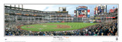 """First Pitch"" New York Mets at Citi Field Panoramic Framed Poster"