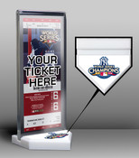 2009 World Series Champions Ticket Display Stand - New York Yank