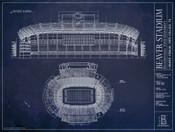 Beaver Stadium - Penn State Nittany Lions Blueprint Poster