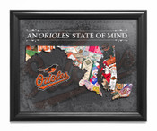 Baltimore Orioles State of Mind Framed Print