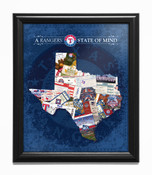 Texas Rangers State of Mind Framed Print
