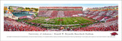 Arizona Razorbacks at Razorback Stadium Panoramic Poster