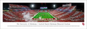 "Oklahoma Sooners ""Night Game"" at Memorial Stadium Panorama Poster"