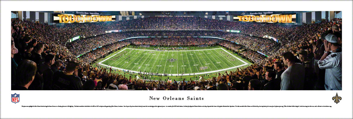 f7ff2762 New Orleans Saints at the Mercedes-Benz Superdome Panoramic Poster