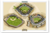 Chicago White Sox Ballparks Print