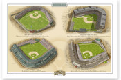 Chicago Cubs Ballparks Print