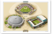 Houston Astros Ballparks Print