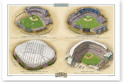 Minnesota Twins Ballparks Print