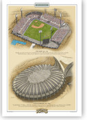 Montreal Expos Ballparks Print