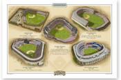 New York Yankees Ballparks Print