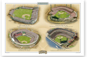 San Francisco Giants Ballparks Print