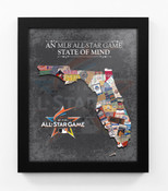 2017 MLB All-Star Game State of Mind Framed Print - Miami Marlins