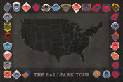 Baseball Ballparks Tour Print
