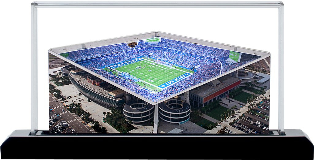 Hard Rock Stadium Miami Dolphins 3D Stadium Replica