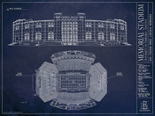 Nebraska Cornhuskers - Memorial Stadium Blueprint Poster