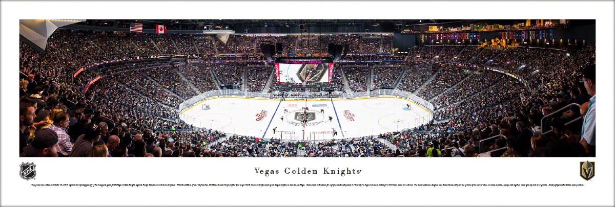 1a07f2eb1 Vegas Golden Knights at T-Mobile Arena Panoramic Poster - the ...