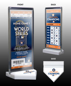 2017 World Series Champions Commemorative Ticket Display Stand - Houston Astros