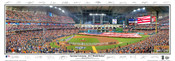 """Opening Ceremony - 2017 World Series"" Houston Astros at Minute Maid Park Panoramic Framed Poster"