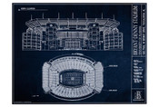 Alabama Crimson Tide - Bryant Denny Stadium Blueprint Poster