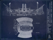 Clemson Tigers - Memorial Stadium Blueprint Poster