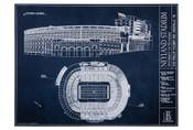 Tennessee Volunteers - Neyland Stadium Blueprint Poster
