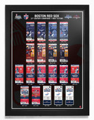 Boston Red Sox 21st Century Champions Tickets to History Framed Print