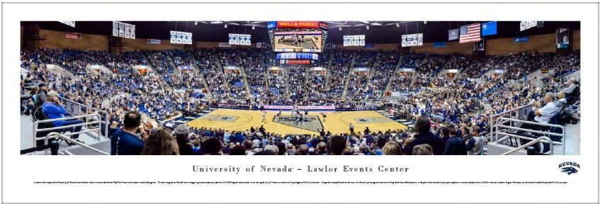 Nevada Wolf Pack at the Lawlor Events Center Panoramic Poster