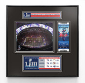 Super Bowl LIII (53) Champions Ticket Frame Jr - New England Patriots